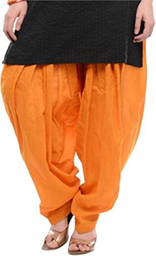 I Shop Traditional Patiala Salwar 100% Cotton Free Size (ORANGE)