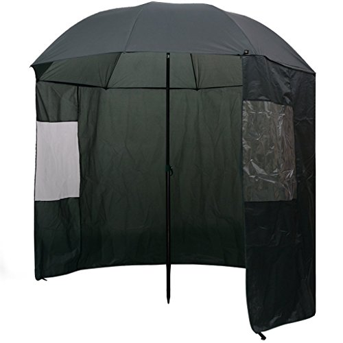 vidaXL Angelschirm 240x210cm Anglerschirm Regenschirm Schirmzelt Seitenwand