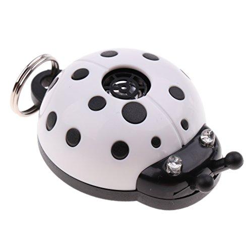 Sharplace Ultraschall Schädlingsbekämpfer Elektronisches Insektenschutz Schädlingsbekämpfung in Marienkäfer Form für Hunde und Katzen - Weiß
