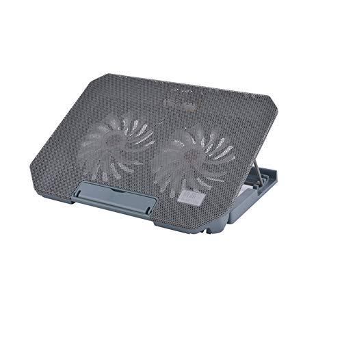 15,6-Zoll-Thin-Light-Notebook-Kühler großer Lüfter, USB-Schnittstelle, effiziente Computer-Kühlkissen Kühlpads (Farbe : Dunkelgrau)