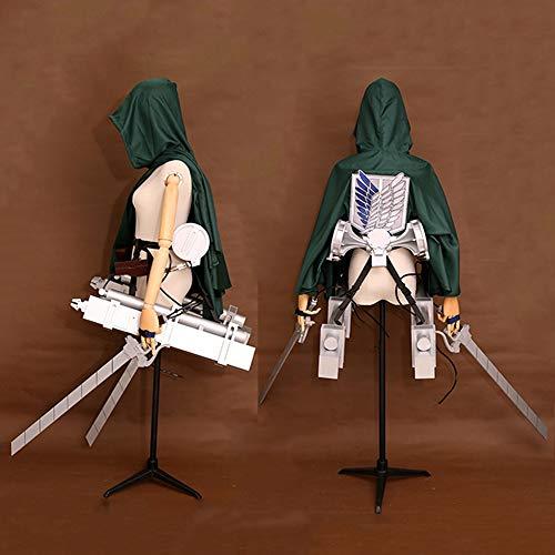 Memory meteor Attack on Titan Cosplay Cloak Cape Three-Dimensional Maneuvering Gear Full Set Silver Sword Straps - Aot Titan Kostüm