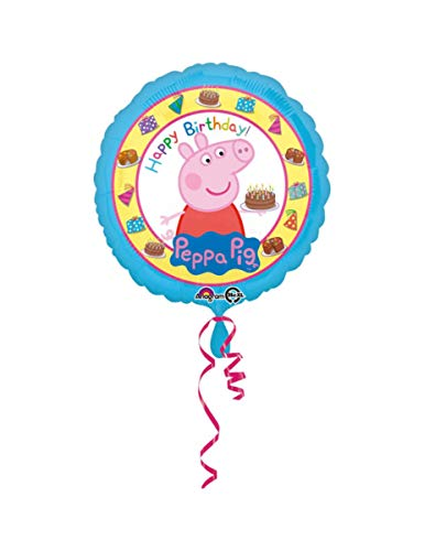 Amscan International 3159201 Peppa Pig Happy Birthday - Globo de Papel de Aluminio estándar