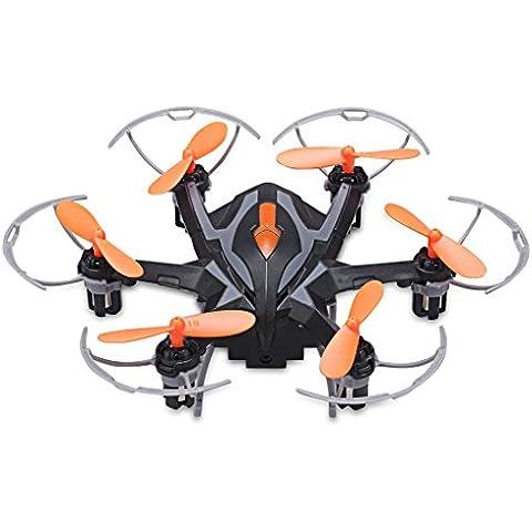 Floureon Yi Zhan i6s - i Drone Hexacopter 2.4G RC (Cámara HD 2.0MP, 3D Rollover, Un Clic Vuelva, 6 Ejes Gyro, Transmisor Con Pantalla, resistencia al viento fuerte) (negro)