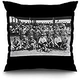 Troy, Illinois - Troy Athletic Baseball Club Team Photo (16x16 Spun Polyester Pillow case, Black Border)