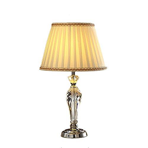 Lampe en cristal, phares de chevet de luxe simple de mode créative, taille: 33 * 55cm