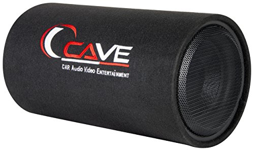 Cave Bass Tube with Amplifier (Black, 10 inch)