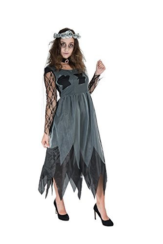 Monster Undead Bride Horror Kostüm Größe XL Damen 40120 Halloween Zombie Braut