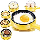 Sonani Electric Egg Boiler and Steamer Cum Omelette Frying Pan(Assorted)