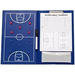 Pizarra magnética para entrenador de baloncesto, color azul