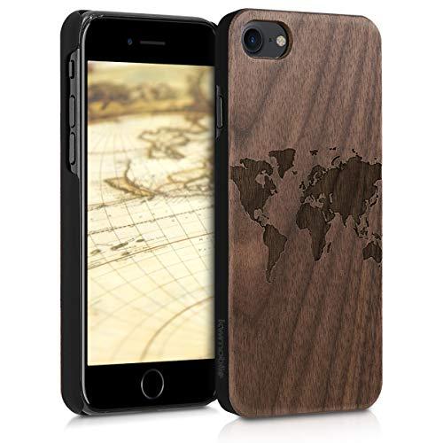 kwmobile Apple iPhone 7/8 Hülle - Handy Schutzhülle aus Holz - Cover Case Handyhülle für Apple iPhone 7/8
