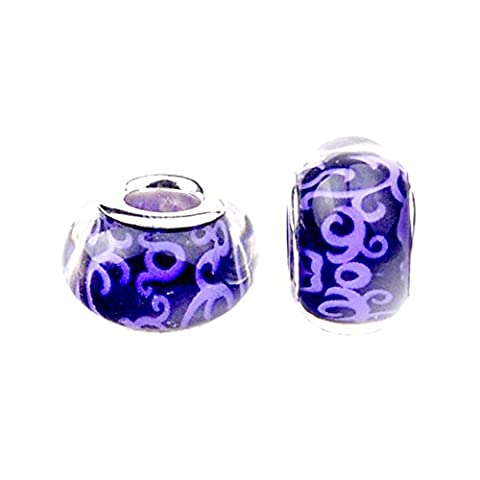 Bling Stars Flower Lampwork Murano Glass Beads Fits Pandora Charms Bracelet