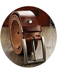 3c1835ec0bdc24 SBL Ledergürtel, Herren- Und Damen-Gürtelschnalle, Aus Leder Gefertigter,  Einfacher Gürtel Aus Wildleder Mit…