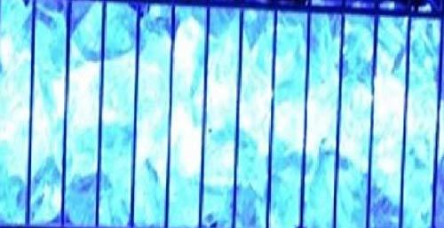 LED Gabionen Leuchte blau 50cm
