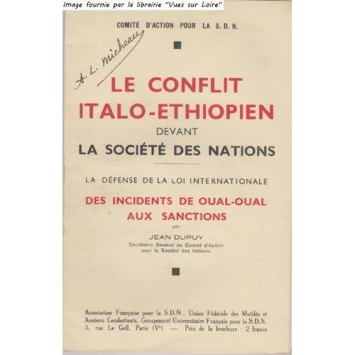Le conflit italo-éthiopien devant la Société des Nations