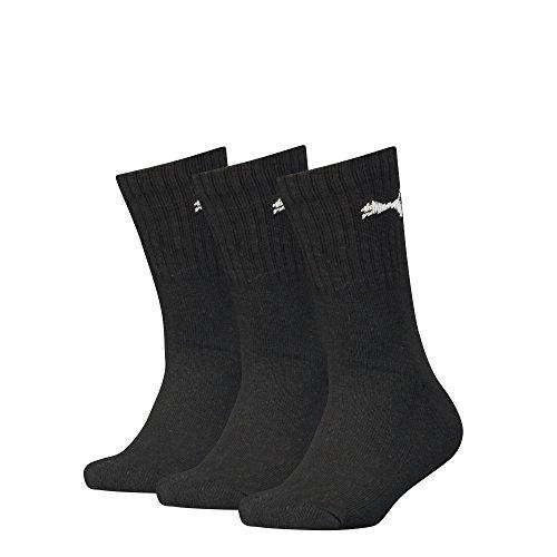 Puma Kinder Sport Junior 3P Socken, Black, 35-38