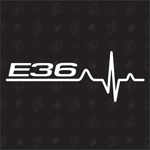 speedwerk-motorwear E36 Herzschlag - Sticker, Tuning Fan Aufkleber