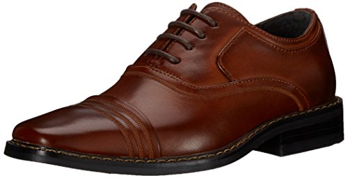 Stacy Adams Bingham Boys Cap Toe Oxford (Little Kid/Big Kid), Cognac, 13 M US Little Kid