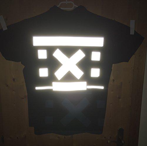 5 Meter EXTRA Starkes Reflektoren Reflektierband SILBER zum AUFBÜGELN 50mm breit - auf Kleidung, Taschen, Jacken, Hosen, Pullovern - Mehr Sicherheit im Dunkeln - auf-bügeln