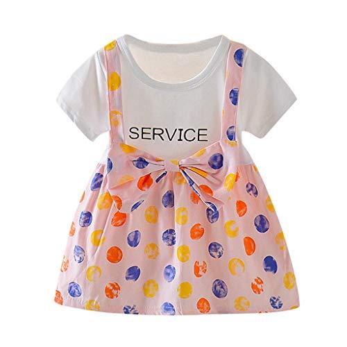 Allence Neugeborene Baby Mädchen Kleid Polka Dot Sonnenblume Rock Prinzessin Bowknot Kleid Outfits -