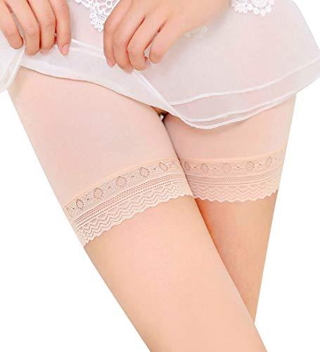 NPRADLA Damen Leggings Hosen Mittlere Taille Shapewear Lässige Spitze Seiten Solide Dehnbar Figur Form Unterwäsche Frau Nahtlose Sicherheitsshorts - Contour Thong