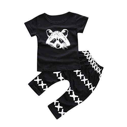 Eichhörnchen-jugend-t-shirt (sunnymi  ® 0-3 Jahre Kinder Baby Jungen Eichhörnchen Tops T Shirt Hose Outfits Set)