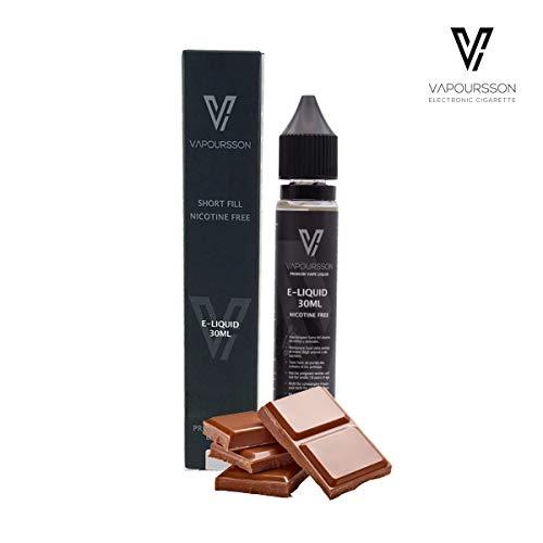 Vapoursson 30ml Schokolade E Liquid 0mg | Neue Shortfill Flaschen | Premium Qualitatsformel nur mit hochwertigen Zutaten | Hergestellt fur elektronische Zigarette und E Shisha | Eliquid