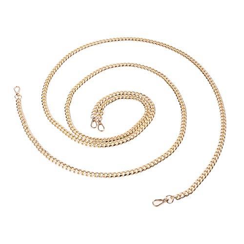Artibetter 2 stücke Aluminium Handtasche Geldbörse Kettenriemen für Damen Schulter Zubehör Umhängetaschen mit Metallschnalle (Golden) -