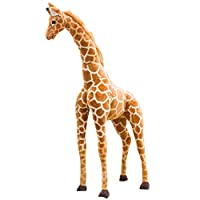 MoMo Honey Giraffe Plush Toy,Soft Lifelike Stuffed Animal Standing Doll Cute Kids Toy for Playspaces Home Decor Photo Props