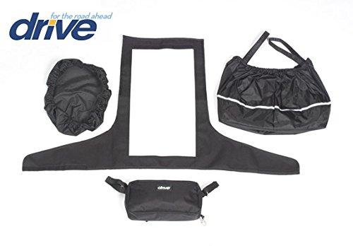 DRIVE MEDICAL - Nuova confezione di accessori per scooter elettrici, include: proteggi manubrio, proteggi cestino con corrispettivo coperchio più una piccola borsa