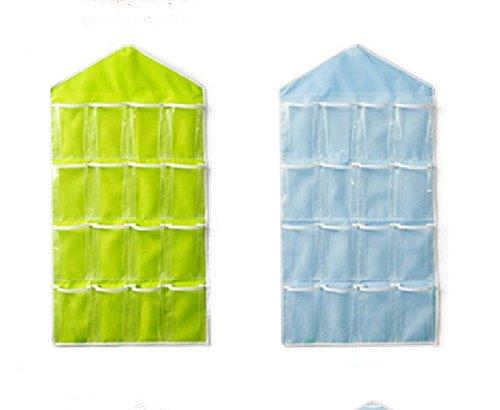 Smart fun organizer porta scarpe con 16 tasche per porta armadio da appendere colore verde - Portascarpe da appendere ...