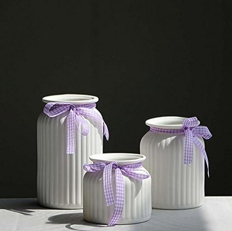 Kleine frische keramische Vase Bogen Blumentöpfe Büro Wohnzimmer Haus Einrichtung Ornament Handwerk Elegant Schöne ideale Geschenk , a set of 3
