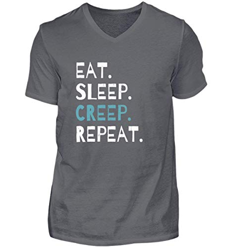 Eat Sleep Creep Repeat - An Halloween Das Wahre Gruselige schreckliche Ich Zeigen - Herren V-Neck Shirt