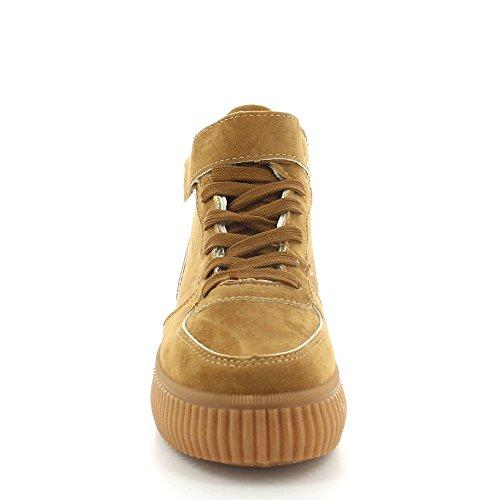 Ideal Shoes, Damen Sneaker Camel
