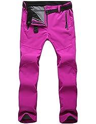 SportingGoods Femme Pantalons de ski Hydrofuge Pantalon Coupe-vent à Séchage Étanche Rapide pour Camping et Randonnée Pêche Escalade en Plein Air Épaississement de la chaleur