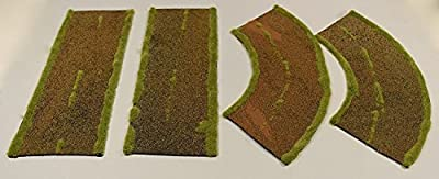 Dirt Road/Roads Straight & Curved Sections - by WWS Wargames Model WWSD3