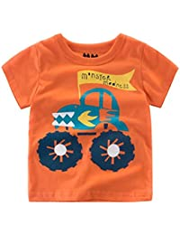 Logobeing Ropa Bebe Verano 2-7 Años Niño Camiseta de Dibujos Animados Impresión Camisetas de