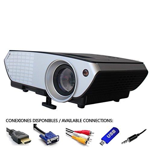 Billig luximagen Notebook 2000Lumen LED Mini Projektor Home Cinema Notebook Multimedia Heimkino Projektor mit USB SD HDMI VGA PS4, NINTENDO Switch, Xbox