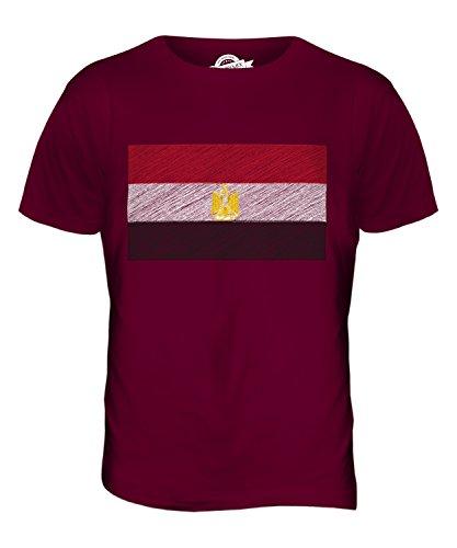 CandyMix Ägypten Kritzelte Flagge Herren T Shirt Burgunderrot