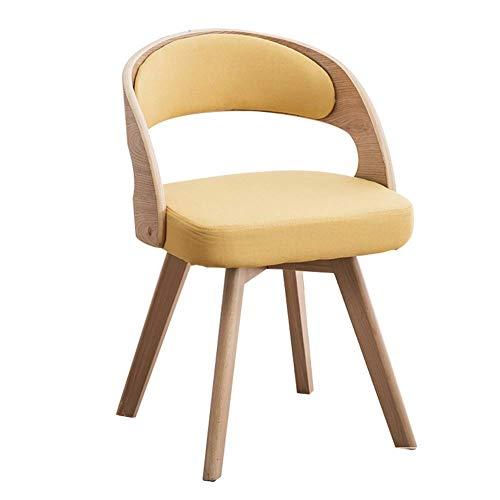 ZZV Tulip Chairs Kitchen Dining Chairs Satz von Stücken Counter Lounge Leisure Wohnzimmer Eckstühle Multicolur Eiffel Chairs Fabric Linen Empfangsstühle mit Rückenlehne Soft Cushion