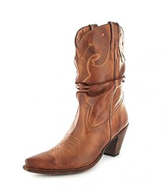 Sendra Boots 15422 Tang Damen Westernstiefel braun