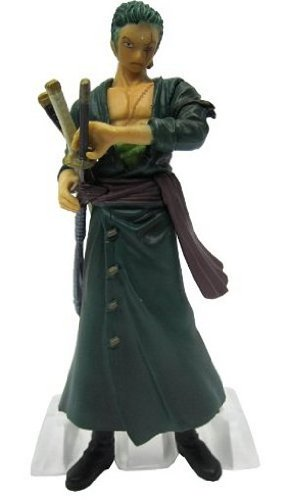 "One Piece Straw Hat Pirates New World Arc Figures w/ Base-4"" Rorona Zoro 1"
