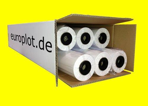 (0,19€/m²) Plotterpapier 6 Rollen | 80g/m², 91,4cm (914mm) breit, 50m lang, CAD, A0 unbeschichtet
