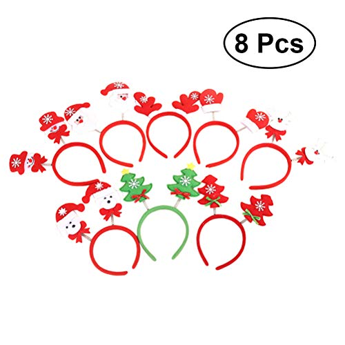 (Lurrose 8 stücke Weihnachtsmann Stirnbänder Kinder Haarschmuck für Weihnachten Party Kostüm Urlaub)