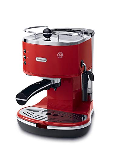 Delonghi ECO311.R Icona Eco Machines à Café 1100 W, Rouge