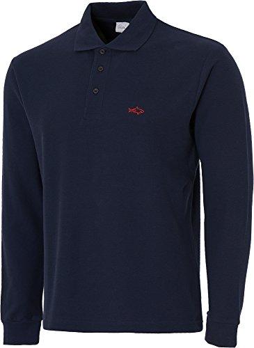 John Shark Herren Poloshirt, Logo Navy
