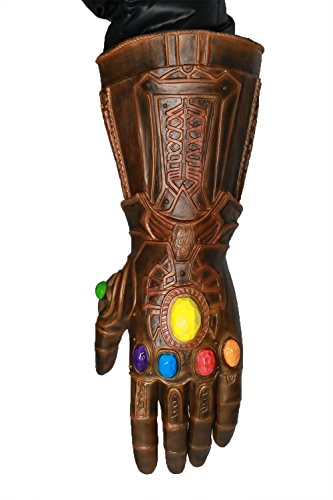 Handschuhe Gauntlet Kostüm - Xcoser Thanos Handschuh Latex Infinity Gauntlet Film Cosplay Kostüm Zubehör für Herren Halloween Kleidung Replik