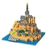 Nanoblock 58513937 - Mont-Saint-Michel, 3D-Puzzle von Kawada, Sights to See, Schwierigkeitsstufe 3, schwer, 390 Teile
