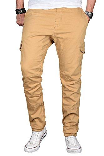 A. Salvarini Herren Stretch Cargohose Cargo Jogg Jeans Hose mit  Elasthananteil Jogging Sweathose Slim AS031 30a2aa7b85