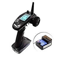 ‏‪Flysky FS-GT5 6CH AFHDS RC Transmitter w/ FS-BS6 Receiver for RC Car Boat‬‏