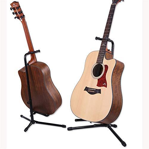 EXCLVEA-SH Gitarrenständerboden Vertikaler Gitarrenständer Klappbarer A-Typ Akustikgitarrenhalter E-Gitarrenhalter Ground Bass Classic Piano Stand Großhandel Fest und zuverlässig (Farbe : Schwarz)